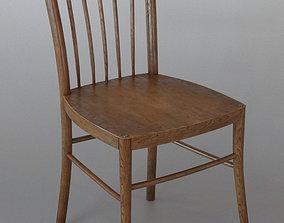 3D model Vintage wooden chair