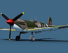 3D model Supermarine Spitfire Mk5C V03 RAF