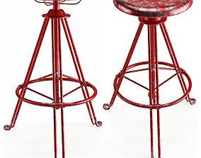3D asset Bar Stool Lozenge