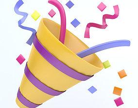 3D asset PARTY POPPER icon
