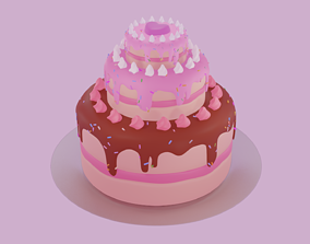 Cake Birthday V1 3D print model