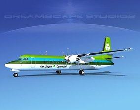 3D Fokker F-60 Aer Lingus