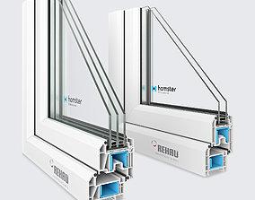 3D Window profile - Rehau Blitz New - Rehau