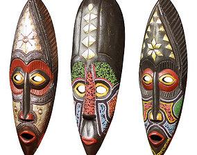 African Masks 3D model