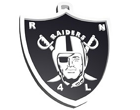 Custom Raiders logo for Joe 3D model