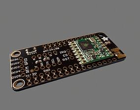 3D model Iora Radio Featherwing Circuit Board