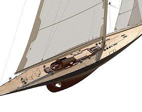 J-Class Yacht ENDEAVOUR JK4 3D