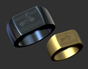 good year 3d model ring