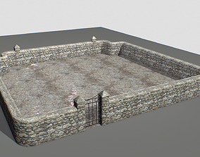 Stone wall pack 2 3D model