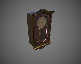 3D model game-ready Vintage Wall Clock
