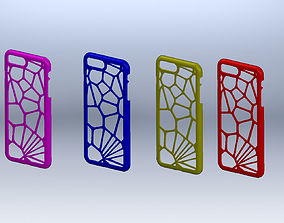 3D print model Iphone 8 plus case - Voronoi style - Fully