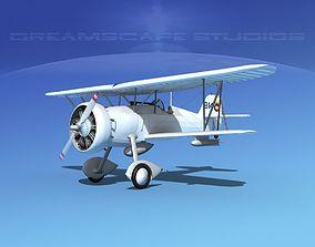 3D model Curtiss F-11-C2 Goshawk V09