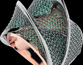 Ring fine jewellery Pave 3D print model