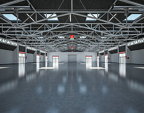 Exhibition Hall interior and exterior 25 3D model
