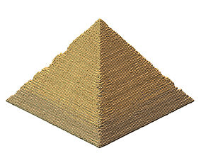 3D model Giza - Three Pyramids 01