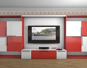 art Nouveau style furniture wall 3D