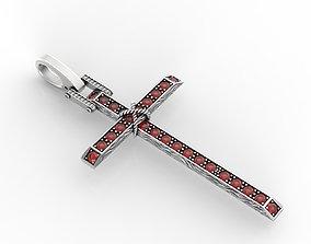 present diamond Cross with stones 3D print model