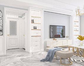 Living room neoclassic 3D