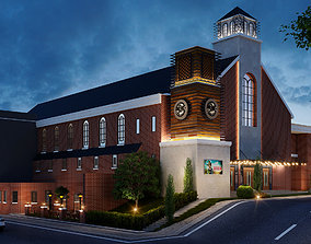 Church model dedsign and redesign sketchup 3D