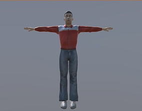 Young man rigged 3D model