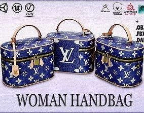 Woman Handbag Louis Vuitton 3D model VR / AR ready