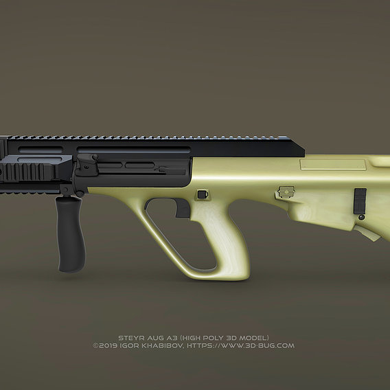 Austrian Bullpup Rifle Steyr AUG A3 (CQC)