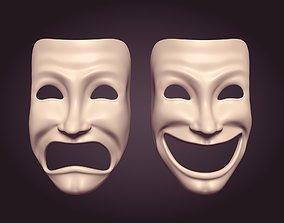 3D asset Theater Masks