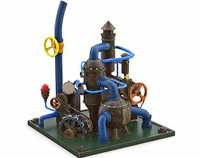 realtime 3D model Industrial compressor