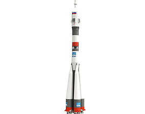 Model of space rocket USSR Soyuz