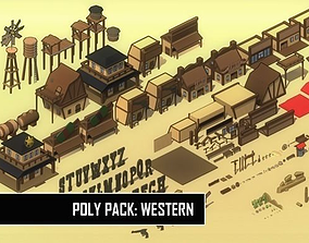3D asset Poly Pack Western