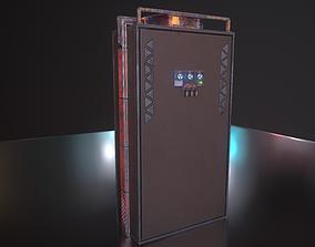 Dashboard SciFi PBR Material 3D asset