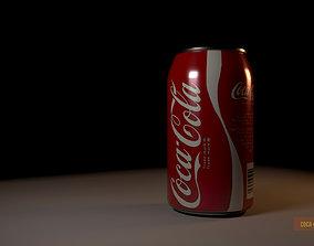 cold Coca Cola Can 3D