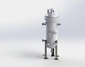 Pressure vessel Nitrogen compressor Knock out 3D model