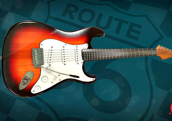 Route 66 bar - guitar