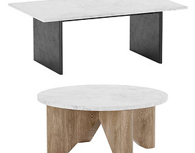Maddox Anton Marble Topped Coffee Table West Elm 3D