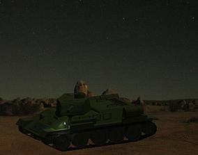 Soviet Tank T34-85 3D print model