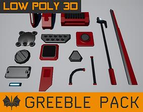 3D asset Low Poly Greebles