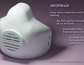 NEOPMask - 3D Printable mask with exchangeable filter - 1