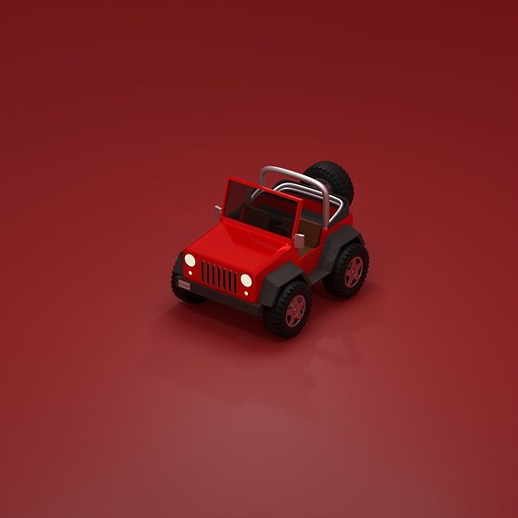 Low Poly Jeep Wrangler