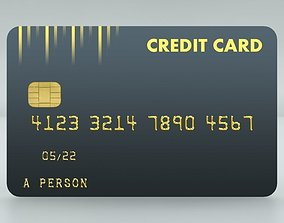 3D asset Quick and Easy High Quality Credit Card