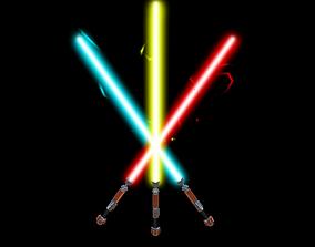 3D asset game-ready Custom Lightsaber