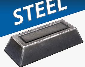 3D asset Steel Ingot