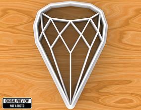 Diamond Cookie Cutter cookie 3D print model
