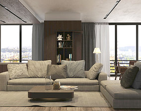 3D model Living Room REDSHIFT
