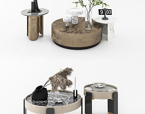 Modern tea table combination houseware 3D