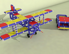 3D asset Toy Plane and Truck