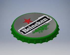 3D printable model Heineken Bottle cap bar wall