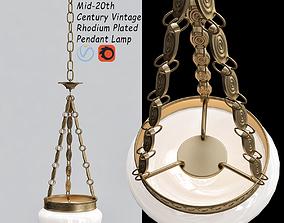 3D model Rhodium Plated Pendant Lamp