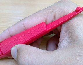 Cool handpoke stick and poke tattoo pen handle 3D printed