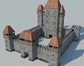 Low Poly Castle 3D asset